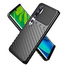 Funda Silicona Ultrafina Goma 360 Grados Carcasa S01 para Xiaomi Mi Note 10 Pro Negro