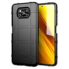 Funda Silicona Ultrafina Goma 360 Grados Carcasa S01 para Xiaomi Poco X3 NFC Negro