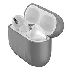 Funda Silicona Ultrafina Goma 360 Grados Carcasa S02 para Apple AirPods Pro Gris