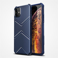 Funda Silicona Ultrafina Goma 360 Grados Carcasa S02 para Apple iPhone 12 Mini Azul