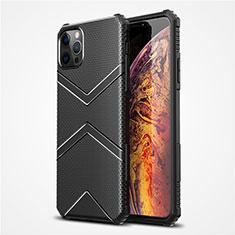 Funda Silicona Ultrafina Goma 360 Grados Carcasa S02 para Apple iPhone 12 Pro Max Negro