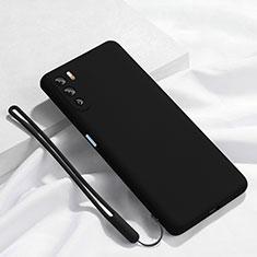 Funda Silicona Ultrafina Goma 360 Grados Carcasa S02 para Huawei Mate 40 Lite 5G Negro