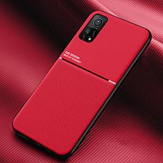 Funda Silicona Ultrafina Goma 360 Grados Carcasa S02 para Xiaomi Redmi K30S 5G Rojo