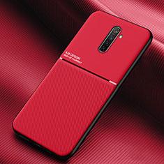 Funda Silicona Ultrafina Goma 360 Grados Carcasa S03 para Realme X2 Pro Rojo
