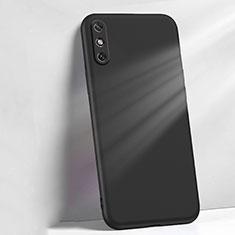 Funda Silicona Ultrafina Goma 360 Grados Carcasa S04 para Huawei Enjoy 10e Negro