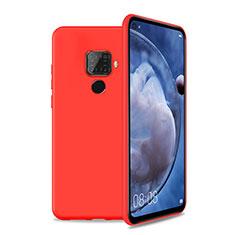 Funda Silicona Ultrafina Goma 360 Grados Carcasa S04 para Huawei Nova 5z Rojo