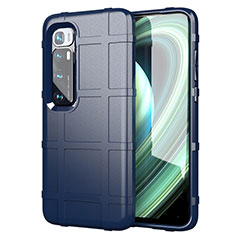 Funda Silicona Ultrafina Goma 360 Grados Carcasa S05 para Xiaomi Mi 10 Ultra Azul