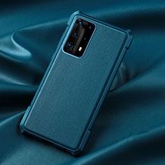 Funda Silicona Ultrafina Goma 360 Grados Carcasa S06 para Huawei P40 Pro+ Plus Azul