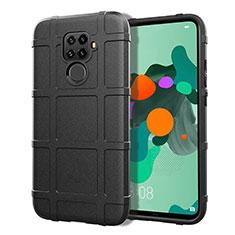 Funda Silicona Ultrafina Goma 360 Grados Carcasa S07 para Huawei Mate 30 Lite Negro