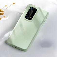 Funda Silicona Ultrafina Goma 360 Grados Carcasa S07 para Huawei P40 Pro+ Plus Verde
