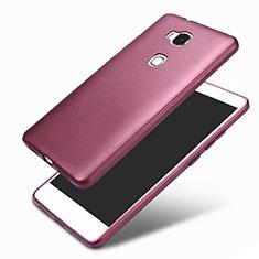 Funda Silicona Ultrafina Goma 360 Grados para Huawei Honor 5X Morado