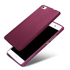 Funda Silicona Ultrafina Goma 360 Grados para Huawei P8 Lite Morado