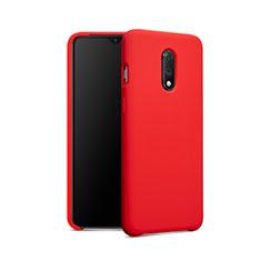 Funda Silicona Ultrafina Goma 360 Grados para OnePlus 7 Rojo