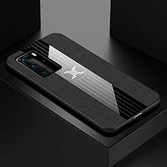 Funda Silicona Ultrafina Goma Carcasa C01 para Huawei P40 Pro Negro