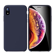 Funda Silicona Ultrafina Goma Carcasa S01 para Apple iPhone XR Azul