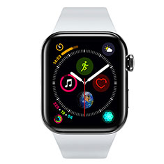 Funda Silicona Ultrafina Goma Carcasa S01 para Apple iWatch 4 40mm Negro