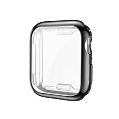 Funda Silicona Ultrafina Goma Carcasa S01 para Apple iWatch 5 44mm Negro