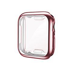 Funda Silicona Ultrafina Goma Carcasa S01 para Apple iWatch 5 44mm Oro Rosa