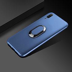 Funda Silicona Ultrafina Goma Carcasa S01 para Huawei Enjoy 9e Azul