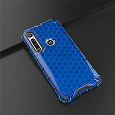 Funda Silicona Ultrafina Goma Carcasa S01 para Motorola Moto G8 Play Azul