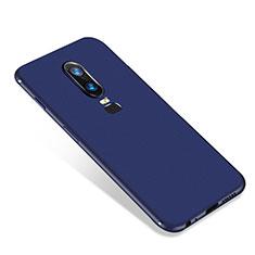 Funda Silicona Ultrafina Goma Carcasa S01 para OnePlus 6 Azul