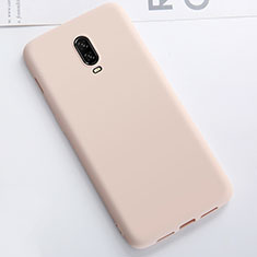 Funda Silicona Ultrafina Goma Carcasa S01 para OnePlus 6T Oro