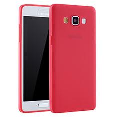 Funda Silicona Ultrafina Goma Carcasa S01 para Samsung Galaxy A7 Duos SM-A700F A700FD Rojo