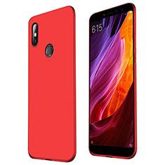 Funda Silicona Ultrafina Goma Carcasa S01 para Xiaomi Mi Max 3 Rojo
