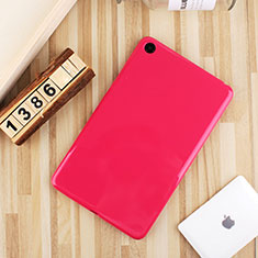 Funda Silicona Ultrafina Goma Carcasa S01 para Xiaomi Mi Pad 4 Plus 10.1 Rosa Roja