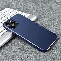 Funda Silicona Ultrafina Goma Carcasa S02 para Apple iPhone 12 Pro Max Azul