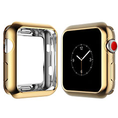 Funda Silicona Ultrafina Goma Carcasa S02 para Apple iWatch 4 40mm Oro