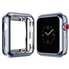 Funda Silicona Ultrafina Goma Carcasa S02 para Apple iWatch 4 44mm Azul Cielo