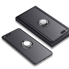 Funda Silicona Ultrafina Goma con Anillo de dedo Soporte A02 para Xiaomi Mi Note 3 Negro