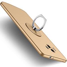 Funda Silicona Ultrafina Goma con Anillo de dedo Soporte para Huawei Mate 10 Oro
