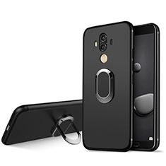 Funda Silicona Ultrafina Goma con Anillo de dedo Soporte para Huawei Mate 10 Pro Negro