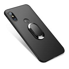 Funda Silicona Ultrafina Goma con Anillo de dedo Soporte para Xiaomi Redmi Note 5 Pro Negro