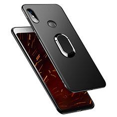 Funda Silicona Ultrafina Goma con Anillo de dedo Soporte para Xiaomi Redmi S2 Negro