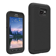 Funda Silicona Ultrafina Goma Frontal y Trasera 360 Grados para Samsung Galaxy S7 Active G891A Negro