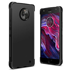 Funda Silicona Ultrafina Goma para Motorola Moto X4 Negro