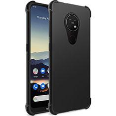 Funda Silicona Ultrafina Goma para Nokia 7.2 Negro