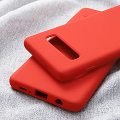 Funda Silicona Ultrafina Goma para Samsung Galaxy S10 Plus Rojo