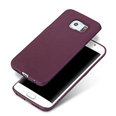 Funda Silicona Ultrafina Goma para Samsung Galaxy S6 Edge+ Plus SM-G928F Morado