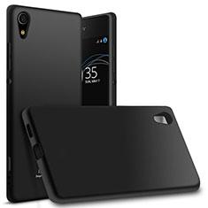 Funda Silicona Ultrafina Goma para Sony Xperia XA1 Ultra Negro