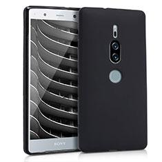 Funda Silicona Ultrafina Goma para Sony Xperia XZ2 Premium Negro