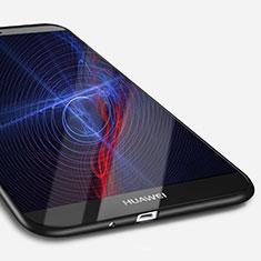 Funda Silicona Ultrafina Goma S02 para Huawei Mate 7 Negro