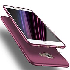 Funda Silicona Ultrafina Goma S02 para Samsung Galaxy C7 SM-C7000 Morado