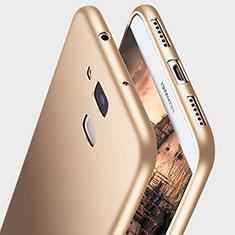 Funda Silicona Ultrafina Goma S03 para Huawei G7 Plus Oro