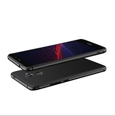 Funda Silicona Ultrafina Goma S04 para Huawei Enjoy 7 Plus Negro