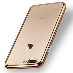 Funda Silicona Ultrafina Transparente A08 para Apple iPhone 8 Plus Oro