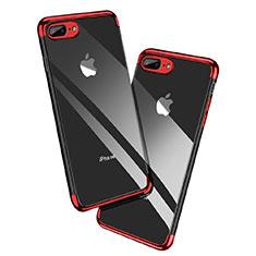 Funda Silicona Ultrafina Transparente A12 para Apple iPhone 8 Plus Rojo